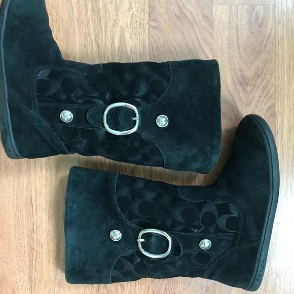 Coach Shoes - Coach Black Boots